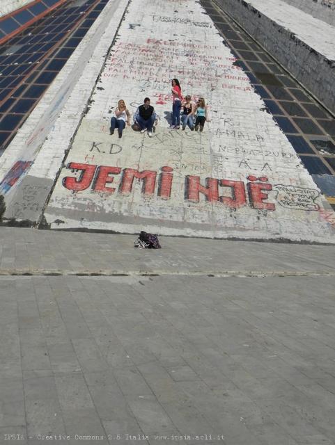 Monumento-piramide voluto da Enver Hoxha, poi centro culturale e giovanile, Tirana, Albania