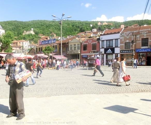 Piazza Shadervan a Prizren, Kosovo