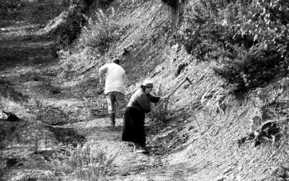 Albania, lavoro presso il villaggio di Fierzë di Tropojë